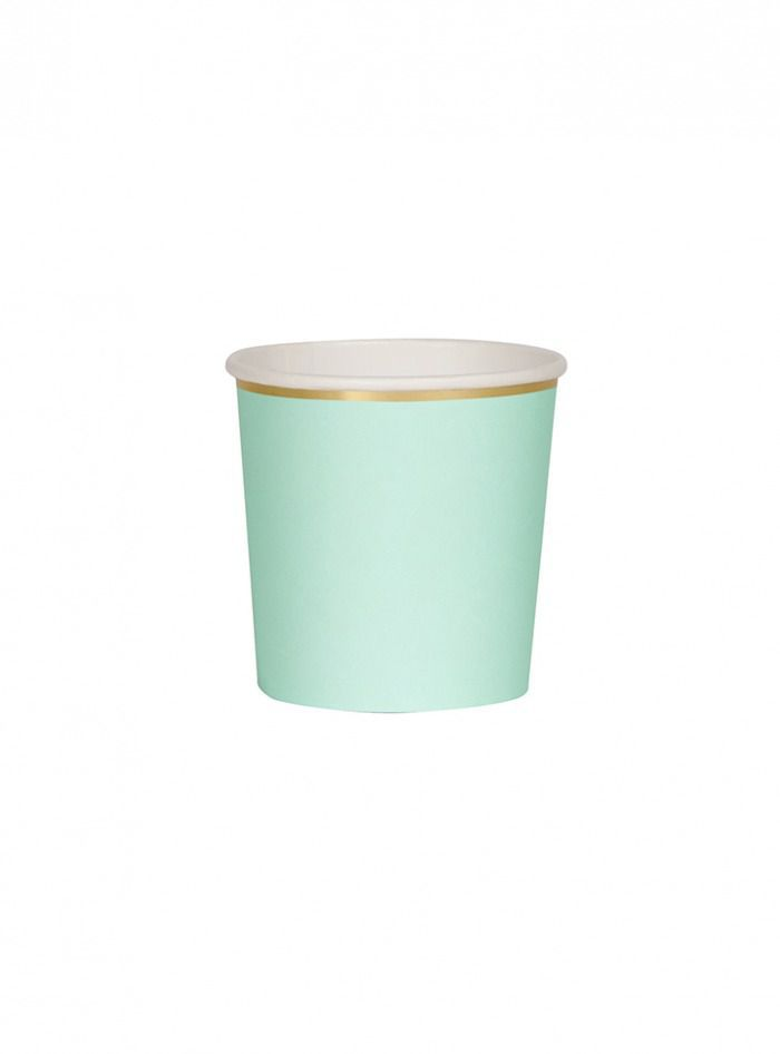Χάρτινο Ποτήρι Χαμηλό (Κούπα) 260ml στο χρώμα της Μέντας - Mint - ΚΩΔ:181198-JP