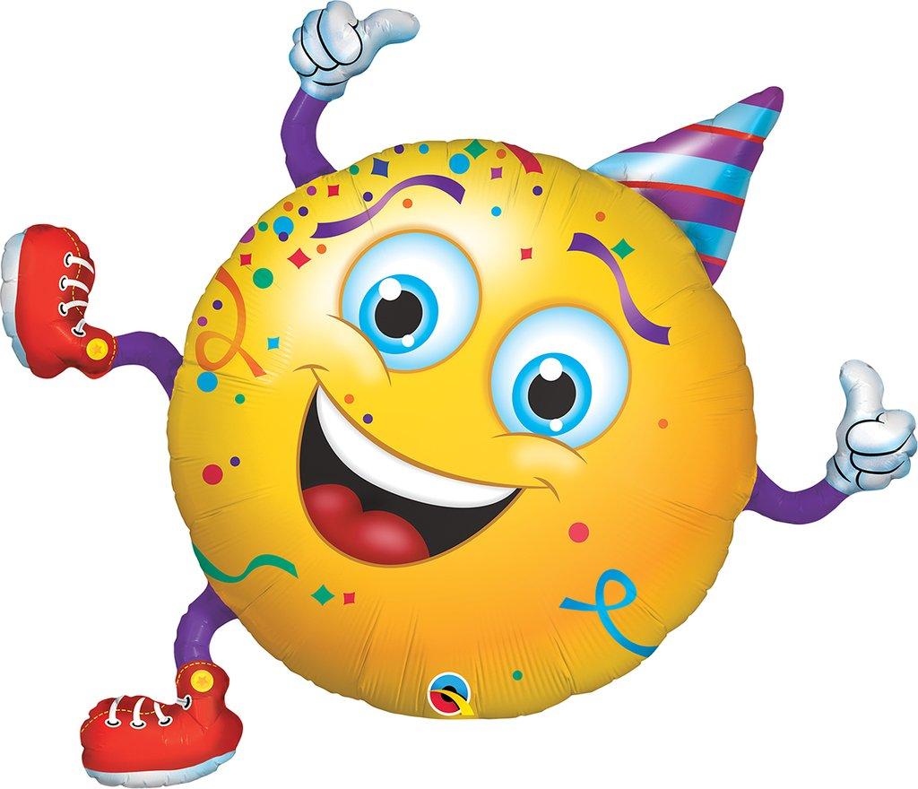 ΜΠΑΛΟΝΙ FOIL 96.5cm SUPERSHAPE SMILEY PARTY GUY – ΚΩΔ.:49360-BB