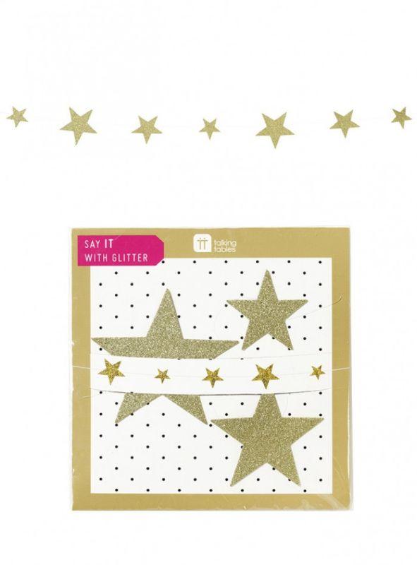 Γιρλάντα Χρυσά Αστέρια - ΚΩΔ:SAY-STAR-JP