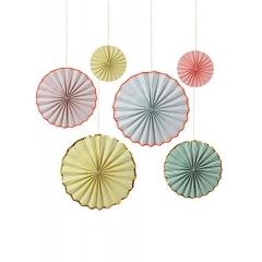 Pastel Διακοσμητικές Βεντάλιες 6τμχ - ΚΩΔ:45-2062-JP