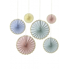 Pastel Διακοσμητικές Βεντάλιες 6τμχ - ΚΩΔ:45-2083-JP