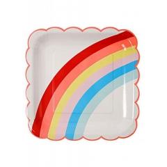Rainbow Πιάτο Φαγητού 12τμχ - ΚΩΔ:143713-JP