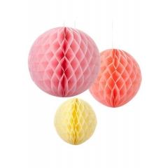 Χάρτινα Διακοσμητικά Honeycomb Sorbet - ΚΩΔ:DD-HONSORBETMIX-JP