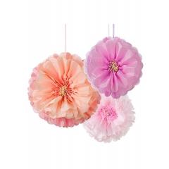 Χάρτινα Διακοσμητικά Pom Pom Λουλούδι - ΚΩΔ:DD-POMFLOWER- BLUSH-JP