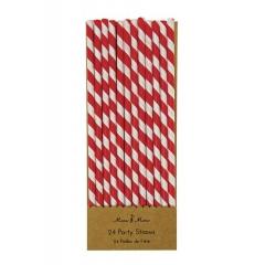 Χάρτινα Καλαμάκια Ριγέ Κόκκινο Λευκό - ΚΩΔ:116137-JP