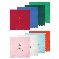 Χαρτοπετσέτες Μεγάλες Be Jolly Be Merry - ΚΩΔ:45-2405-JP