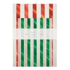 Τσάντες Κεράσματος Ριγέ Κόκκινο Πράσινο - ΚΩΔ:45-2508-JP