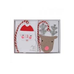 Santa Reindeer Gift Tags - ΚΩΔ:65-0187-JP