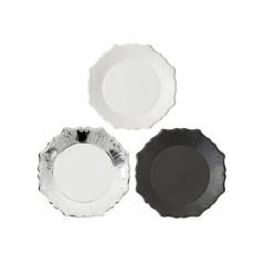 Tables Πιάτα Μεσαία Silver Porcelain - ΚΩΔ:PPS-PLATE-MED-JP