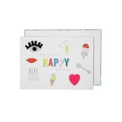 Ευχετήρια Κάρτα Felt Icons - ΚΩΔ:15-3482H-JP
