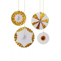 Γιγάντιιες Χρυσές Διακοσμητικές Βεντάλιες - ΚΩΔ:138862-JP