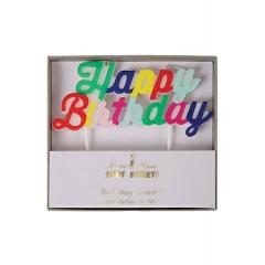 Κερί Happy Birthday Πολύχρωμο - ΚΩΔ:142219-JP