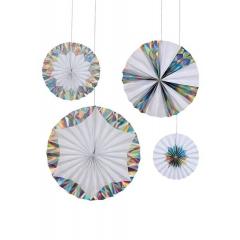 Διακοσμητικές Βεντάλιες Giant Holographic Silver - ΚΩΔ:45-2445-JP