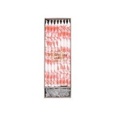 Κεράκια Γενεθλίων Marbled Neon Coral - ΚΩΔ:154666-JP