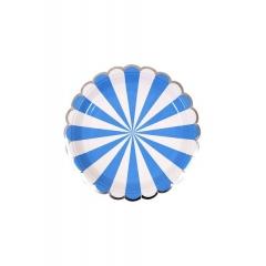 Πιάτο Γλυκού Ριγέ Μπλε - ΚΩΔ:157069-JP