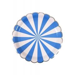 Πιάτο Φαγητού Ριγέ Μπλε - ΚΩΔ:157078-JP