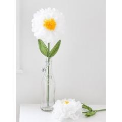 Μεγάλο Διακοσμητικό Λουλούδι - ΚΩΔ:DDGDN-STEM-WHT-S-JP