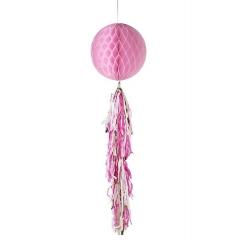 Διακοσμητική Μπάλα Ροζ με Φούντες - ΚΩΔ:DD-HONTASSLE-BLUSH-JP
