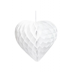 Διακοσμητικές Καρδιές Honeycomb Λευκές - ΚΩΔ:DD-HONHEART-WHT-JP