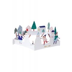 Ευχετήρια Κάρτα Snowman Scene - ΚΩΔ:42-0084-JP