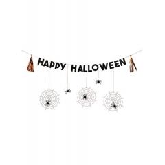 Γιρλάντα Happy Halloween με Αράχνες - ΚΩΔ:45-2941-JP