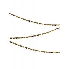 Γιρλάντα Κουβαρίστρα με Χρυσά Ημικύκλια - ΚΩΔ:45-3077-JP