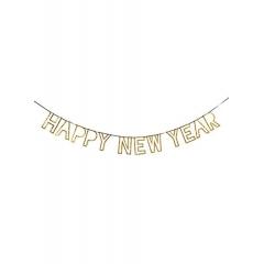 Γιρλάντα Χρυσή Happy New Year - ΚΩΔ:165214-JP