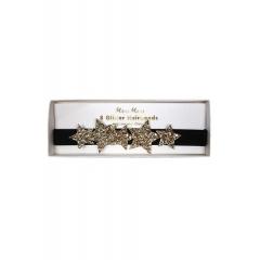 Κορδέλες Μαλλιών με Χρυσά Αστέρια - ΚΩΔ:163045-JP