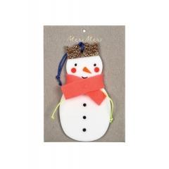 Χριστουγεννιάτικο Στολίδι Χιονάνθρωπος - ΚΩΔ:60-0054-JP