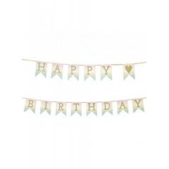 Γιρλάντα Happy Birthday Παστέλ - ΚΩΔ:PASTEL-GARLAND-JP