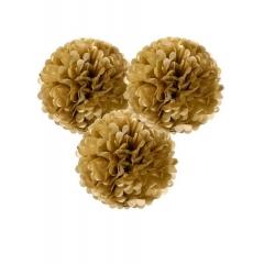 Tables Δακοσμητικές Μπάλες Fluffy Χρυσές - ΚΩΔ:DD-POMGLDLRG-JP