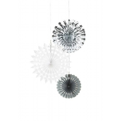 Tables Διακοσμητικές Βεντάλιες Silver - ΚΩΔ:DD-FAN-ICE-JP