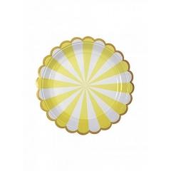 Πιάτο γλυκού TS Yellow Stripe - ΚΩΔ:124192-JP