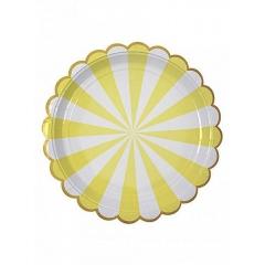 Πιάτο φαγητού TS Yellow Stripe - ΚΩΔ:45-1223-JP