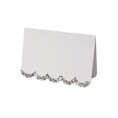 Silver Glitter Placecards 10τμχ - ΚΩΔ:45-1965-JP