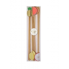 Καλοκαιρινά Φρούτα Ξύλινα stick 12τμχ - ΚΩΔ:141679-JP