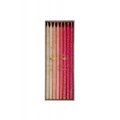 Pink Glitter Κεράκια Γενεθλίων 24τμχ - ΚΩΔ:142192-JP