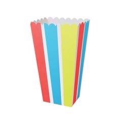 Θήκη Popcorn Ριγέ 8τμχ - ΚΩΔ:45-2318-JP