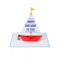 Sailing Boat Ευχετήρια Κάρτα - ΚΩΔ:145747-JP