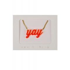 Orange Yay Κολιέ - ΚΩΔ:134479-JP