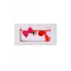 Pink Plaited Βραχιόλι - ΚΩΔ:50-0093-JP