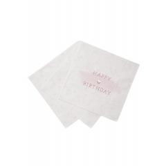 Χαρτοπετσέτα Happy Birthday Ροζ - ΚΩΔ:PINK-HBNAPKIN-JP