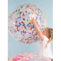 Multi Color Confetti Γιγάντιο Μπαλόνι 3τμχ - ΚΩΔ:145783-JP
