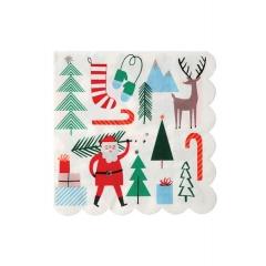 Santa & Reindeer χαρτοπετσέτα - ΚΩΔ:45-2350-JP
