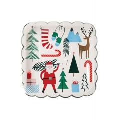 Santa & Reindeer πιάτο φαγητού - ΚΩΔ:45-2352-JP