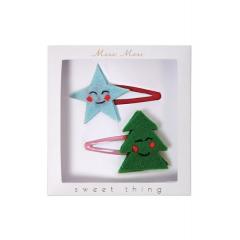 Hair Clips Αστέρι & Χριστουγεννιάτικο Δέντρο - ΚΩΔ:50-0117-JP