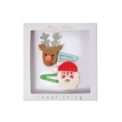Santa & Reindeer Hair clips - ΚΩΔ:50-0125-JP