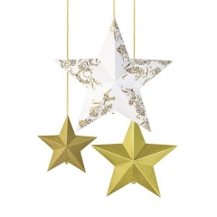 Talking Porcelain Gold Κρεμαστά Διακοσμητικά Αστέρια - ΚΩΔ:PPG-STAR-DECS-JP