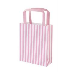 Τσάντα δώρου ριγέ ροζ - ΚΩΔ:MIX-PARTYBAG-PK-JP