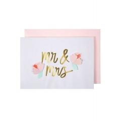 Mr & Mrs Ευχετήρια Κάρτα - ΚΩΔ:159418-JP